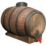 Bidon 30 litri cu robinet si capac, imitatie de butoi culcat
