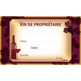 Etichete pentru sticle de vin, set de 24