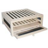 Cutie din lemn cu polite