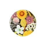 Capace 63 mm cu filet, decor floral, 10 bucati